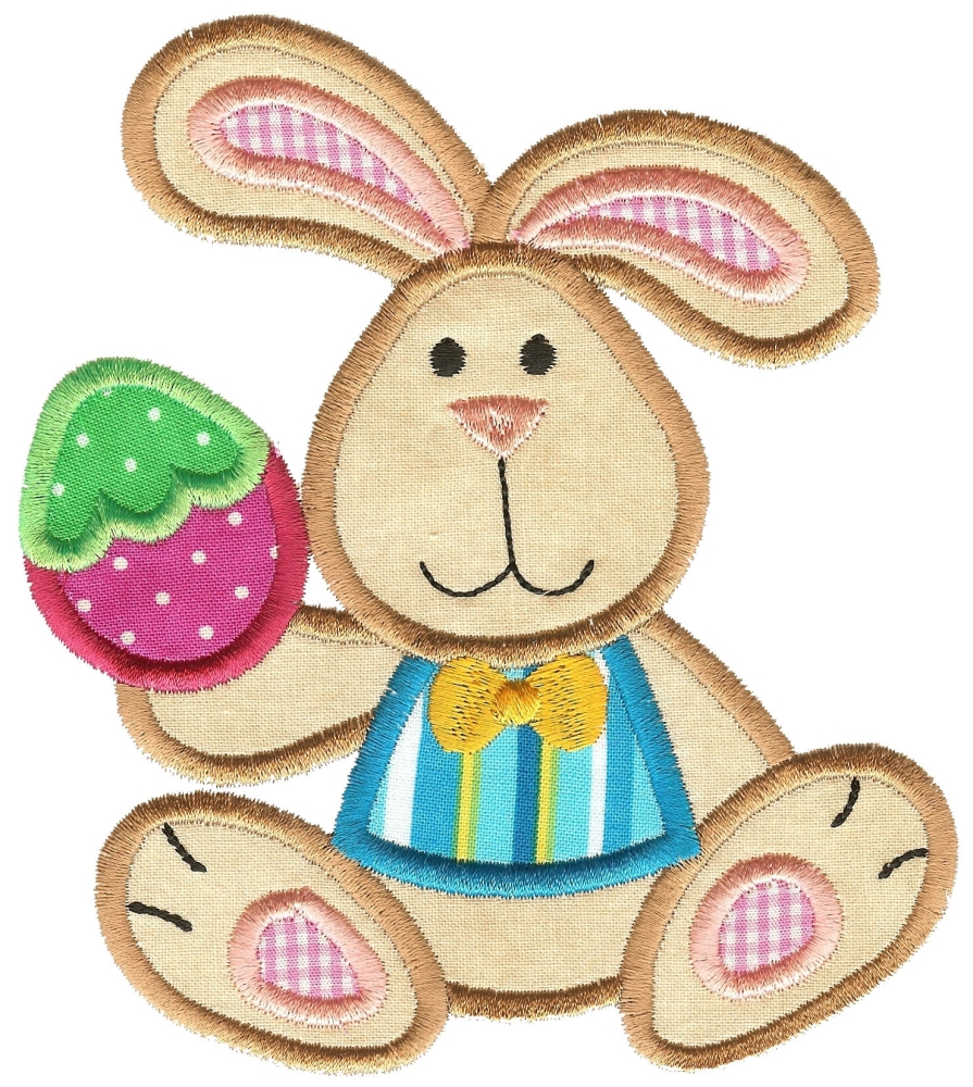Easter bunny and egg applique sizes products swak