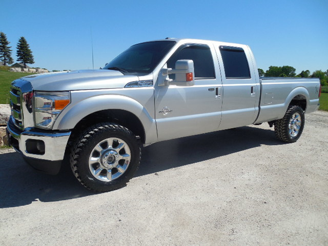 2012 FORD F350 CREW LARIAT LONG DIESEL 4WD HEATED LEATHER ...
