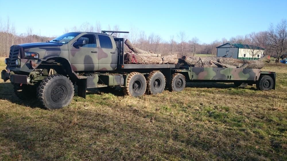 Custom monster 6x6 2002 Dodge Ram body on a 91 5-ton ...