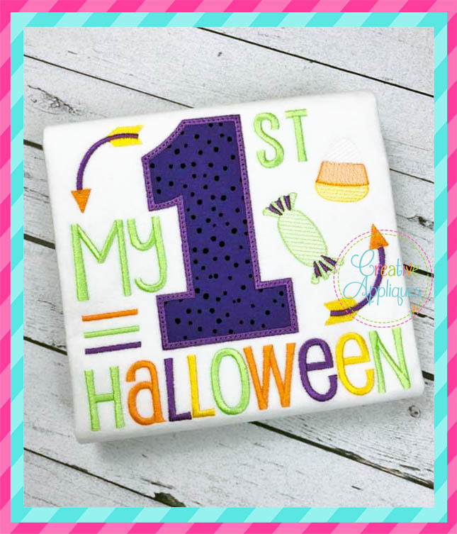 my 1st halloween 4 sizes