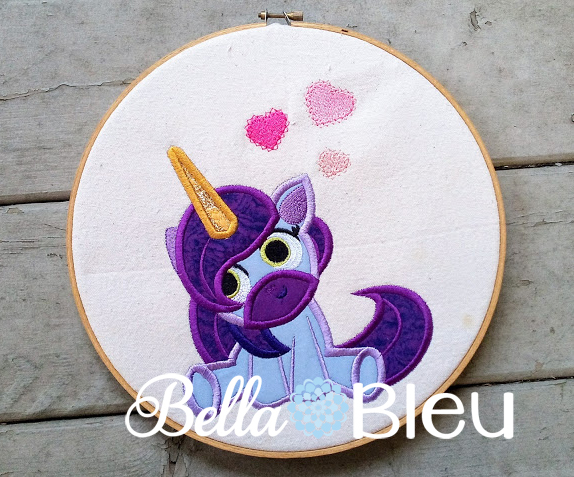 Unicorn hearts applique sizes products swak embroidery
