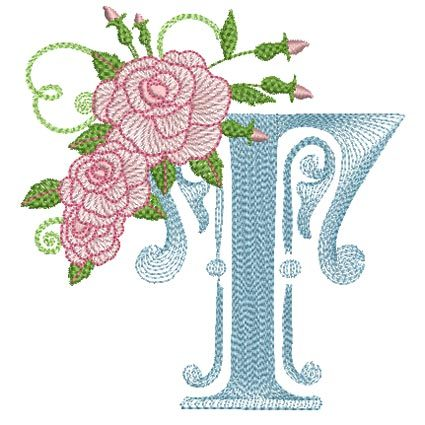 Ripple Rose Letter T