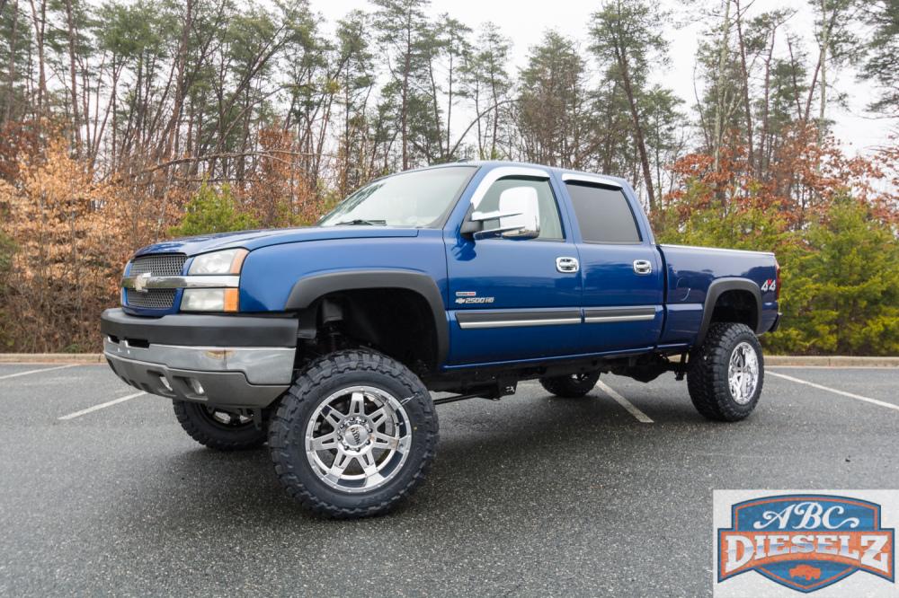 chevy lifted silverado 2003 truck 2500hd 4x4 trucks ccsb diesel
