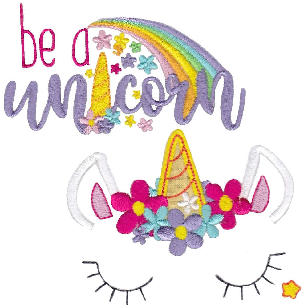 Be A Unicorn Set 15 Designs Products Swak Embroidery