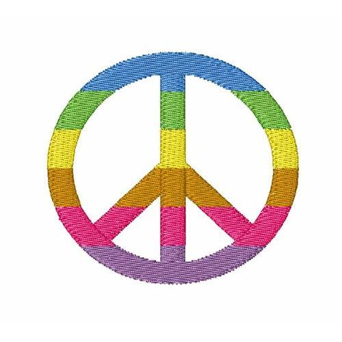 Rainbow Peace Symbol 4x4 Products Swak Embroidery