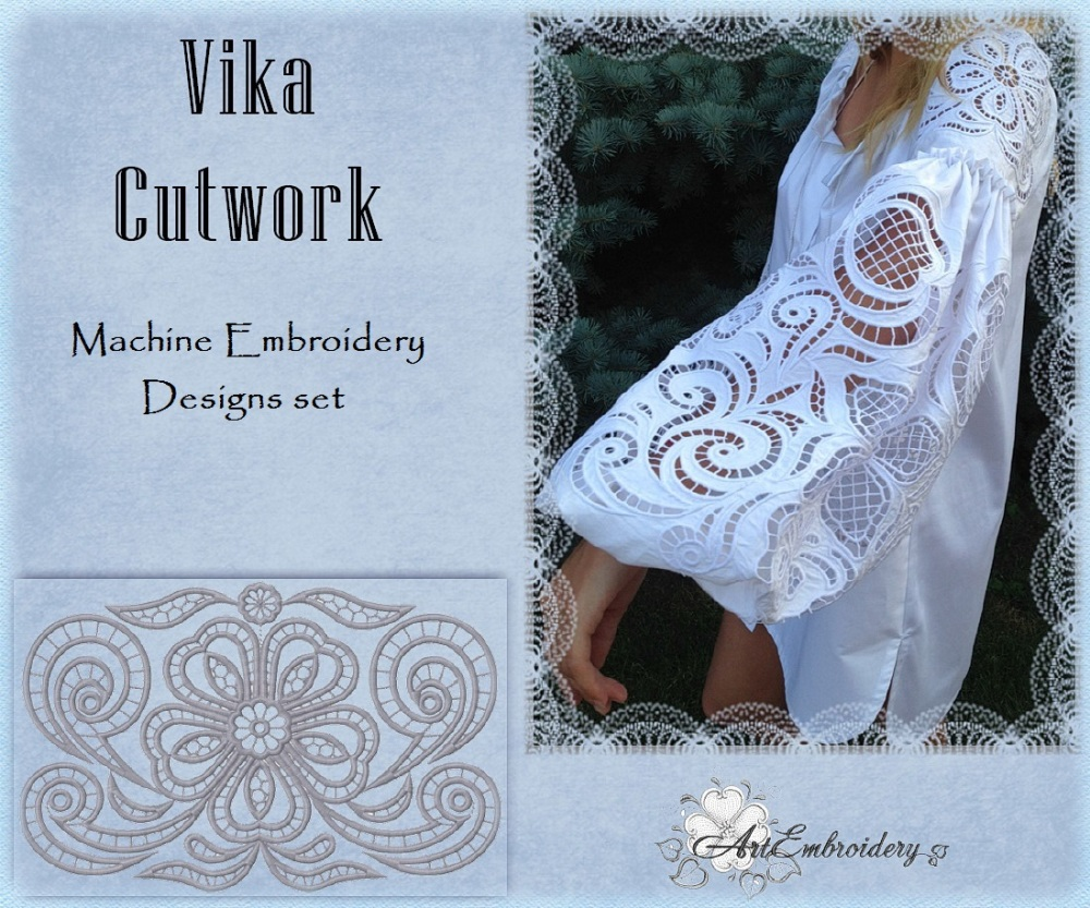 Vika Cutwork Set Products Swak Embroidery