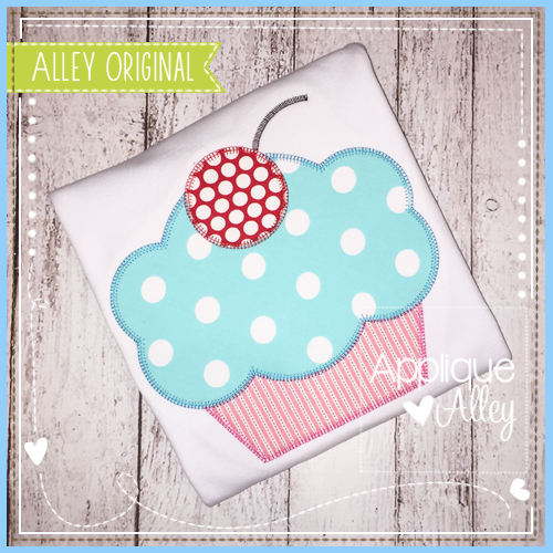 Blanket Stitch Cupcake Applique - 4 Sizes! - Products - SWAK