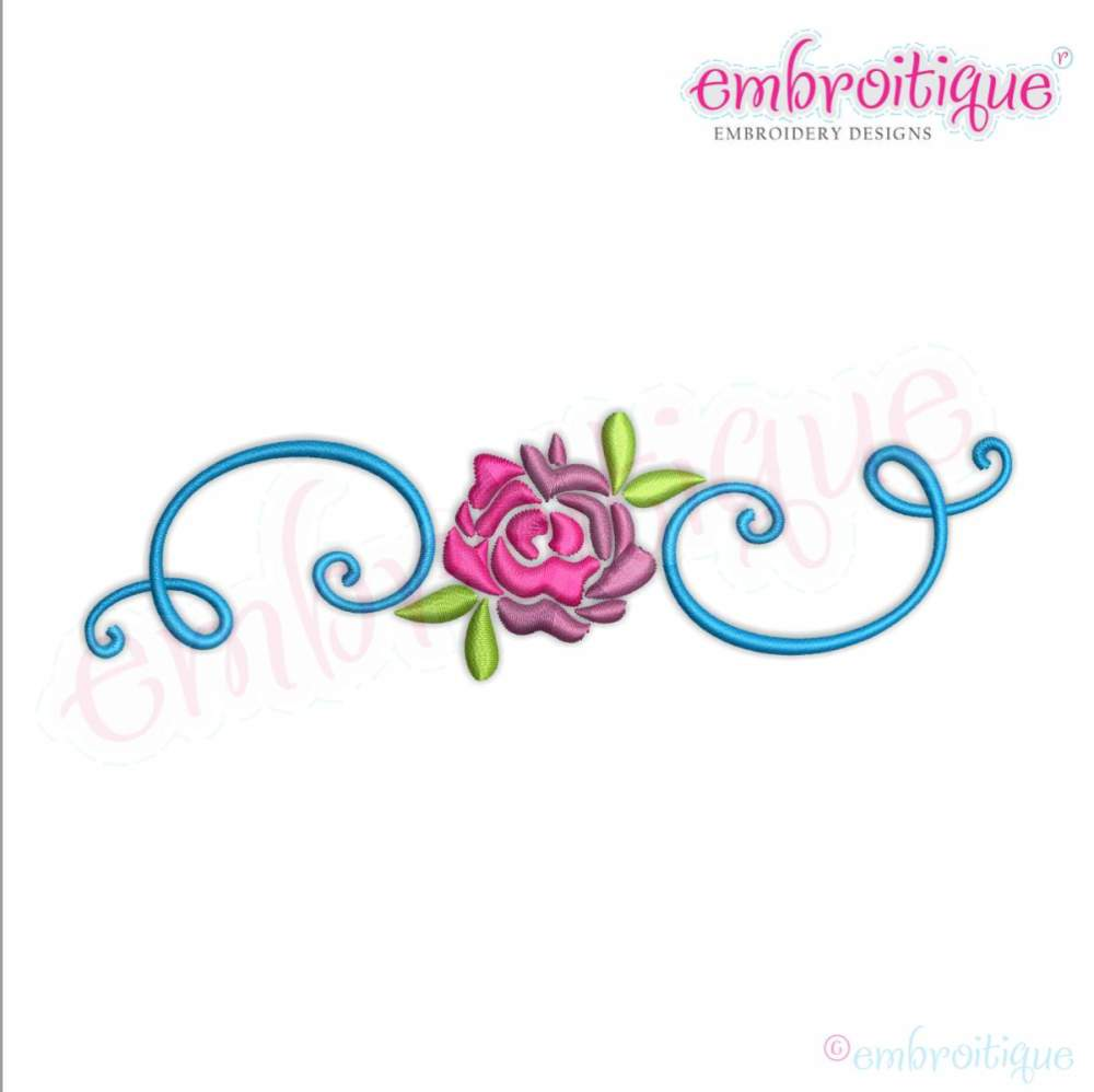 Spring Flower With Curly Flourish Border Frame 8 Sizes Products