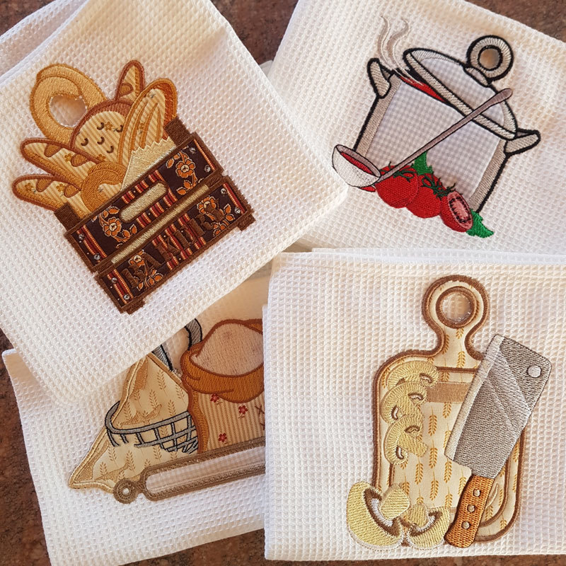 kitchen towel toppers set 10 designs 5x7 products