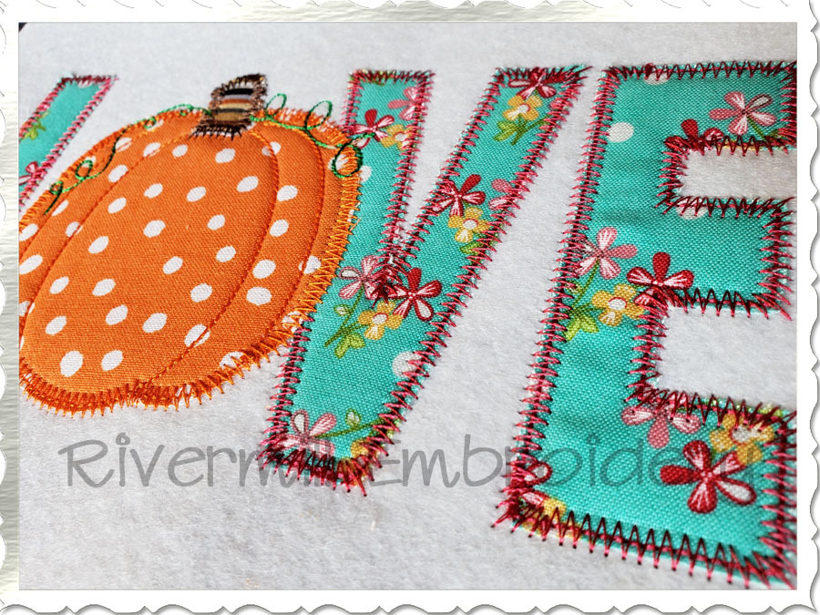 Zig zag applique pumpkin love sizes products swak embroidery